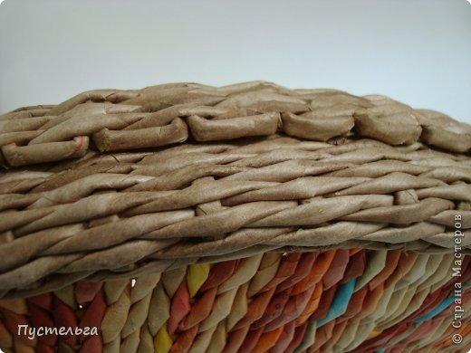 Мастер-класс Поделка изделие Плетение Поднос или утилизация трубочек Бумага газетная Трубочки бумажные фото 13