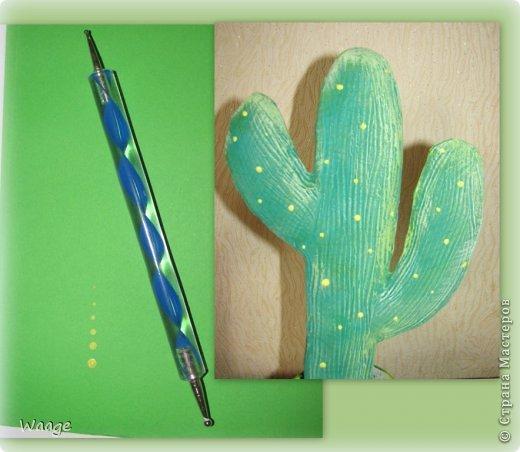 Предлагаю вам сделать вот такой кактус для временного хранения бижутерии. фото 13