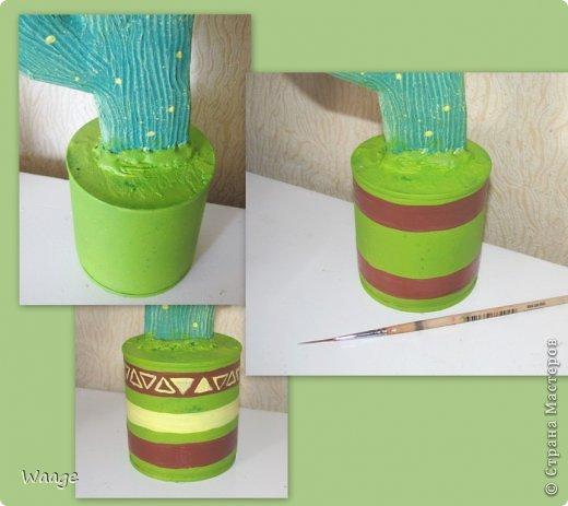 Предлагаю вам сделать вот такой кактус для временного хранения бижутерии. фото 14