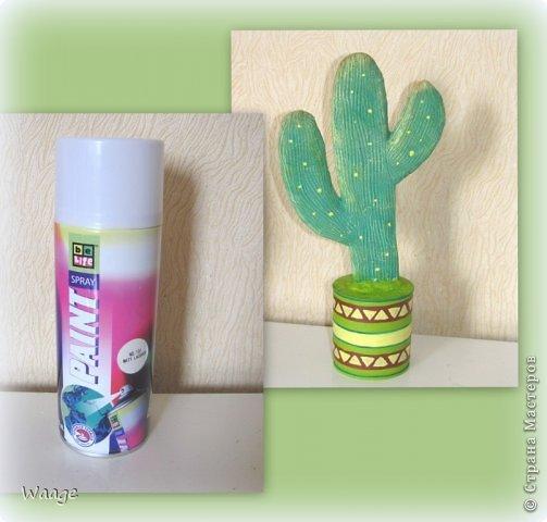 Предлагаю вам сделать вот такой кактус для временного хранения бижутерии. фото 15