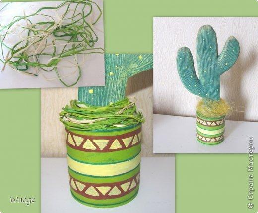 Предлагаю вам сделать вот такой кактус для временного хранения бижутерии. фото 16