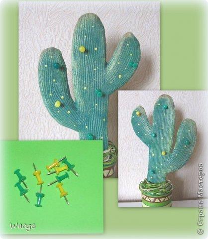 Предлагаю вам сделать вот такой кактус для временного хранения бижутерии. фото 17