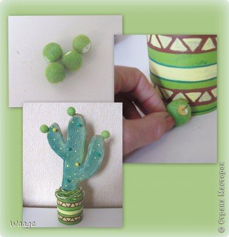 Предлагаю вам сделать вот такой кактус для временного хранения бижутерии. фото 18