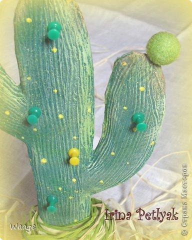 Предлагаю вам сделать вот такой кактус для временного хранения бижутерии. фото 19
