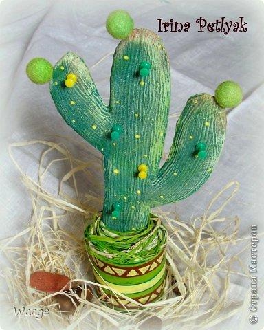 Предлагаю вам сделать вот такой кактус для временного хранения бижутерии. фото 1