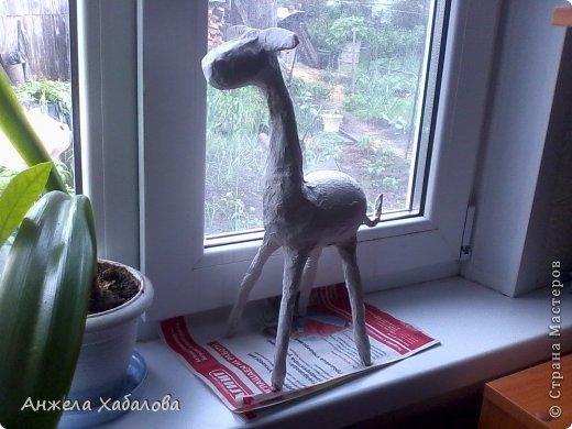 Здравствуйте! Что то меня так затянули жирафы, что и оторваться нельзя! И вот решила: сделаю как я еще одного, только не настоящего, как предыдущий жираф http://stranamasterov.ru/node/710738, а мультяшного!! И вот, что получилось. Оставляю его на ваш суд, в конце обязательно напишите свое мнение: понравилось вам или не понравилось и почему. Буду вам ооочень признательна! А сейчас поделюсь с вами опытом! За основу мк взяла этот http://stranamasterov.ru/node/754719?c=favorite Спасибо большое мастерице за ее подробный мк! Мой мк похож на первых стадиях, но дальше он совершенно другой. фото 8