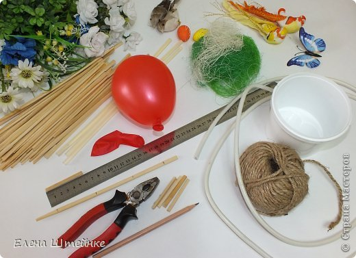 Master class Handicraft product Birthday Wedding MC simulation design Family nest Gypsum Clay Beads Wire Foam Tapes Air balls twine photo 2