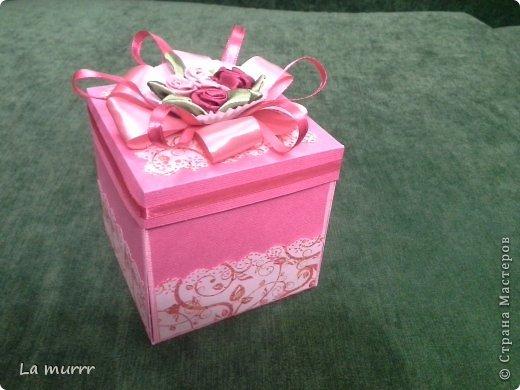 Привет всем! Вот такую коробочку сделала впервые на ДР подруги.  фото 1