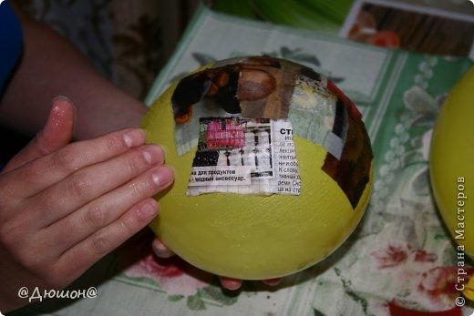 Мастер-класс Поделка изделие Папье-маше МК - жабика копилка Бумага Клей Краска фото 3