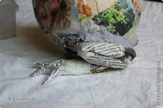 Мастер-класс Поделка изделие Папье-маше МК - жабика копилка Бумага Клей Краска фото 14