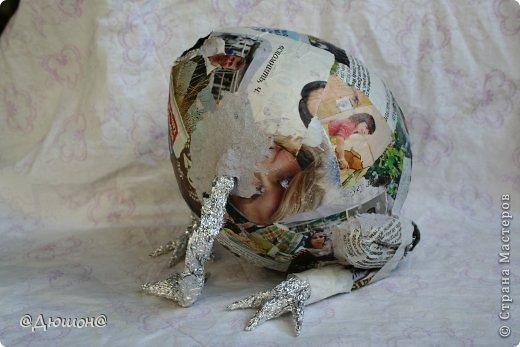 Мастер-класс Поделка изделие Папье-маше МК - жабика копилка Бумага Клей Краска фото 16
