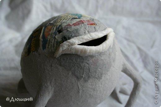 Мастер-класс Поделка изделие Папье-маше МК - жабика копилка Бумага Клей Краска фото 18
