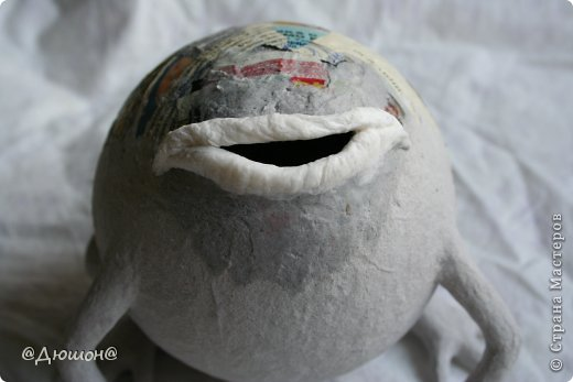 Мастер-класс Поделка изделие Папье-маше МК - жабика копилка Бумага Клей Краска фото 19