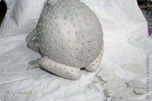 Мастер-класс Поделка изделие Папье-маше МК - жабика копилка Бумага Клей Краска фото 21