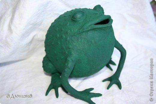 Мастер-класс Поделка изделие Папье-маше МК - жабика копилка Бумага Клей Краска фото 22