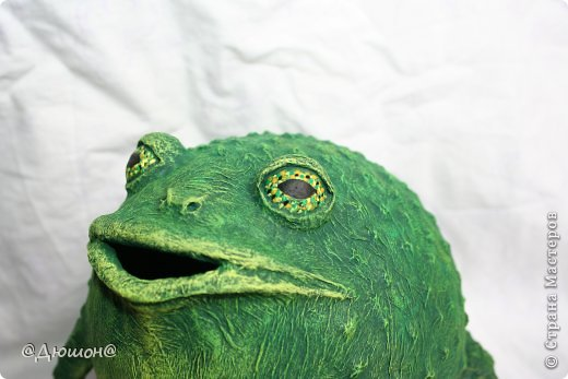 Мастер-класс Поделка изделие Папье-маше МК - жабика копилка Бумага Клей Краска фото 25