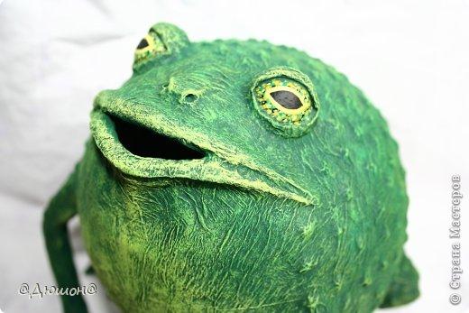 Мастер-класс Поделка изделие Папье-маше МК - жабика копилка Бумага Клей Краска фото 26