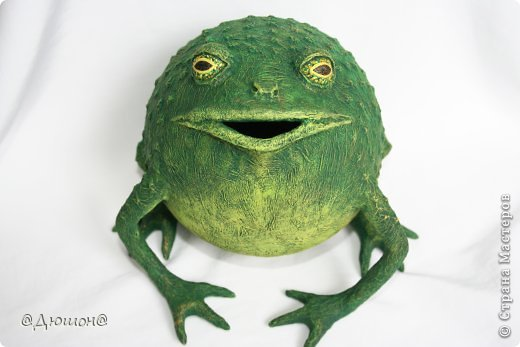Мастер-класс Поделка изделие Папье-маше МК - жабика копилка Бумага Клей Краска фото 27