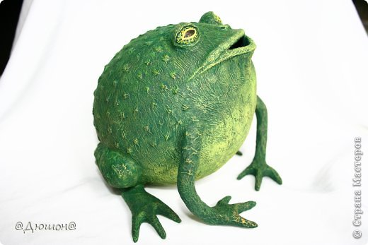 Мастер-класс Поделка изделие Папье-маше МК - жабика копилка Бумага Клей Краска фото 1