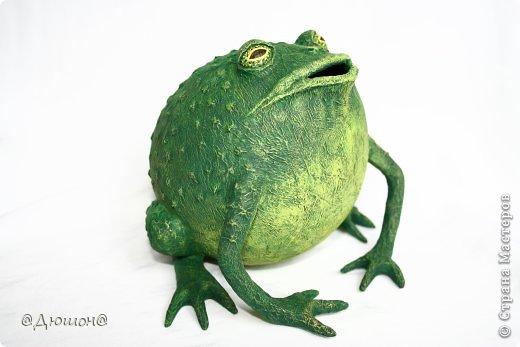 Мастер-класс Поделка изделие Папье-маше МК - жабика копилка Бумага Клей Краска фото 28