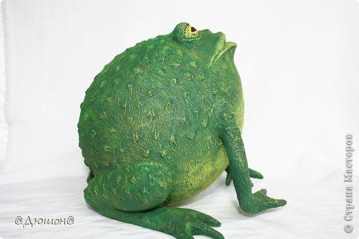 Мастер-класс Поделка изделие Папье-маше МК - жабика копилка Бумага Клей Краска фото 29