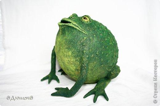 Мастер-класс Поделка изделие Папье-маше МК - жабика копилка Бумага Клей Краска фото 31