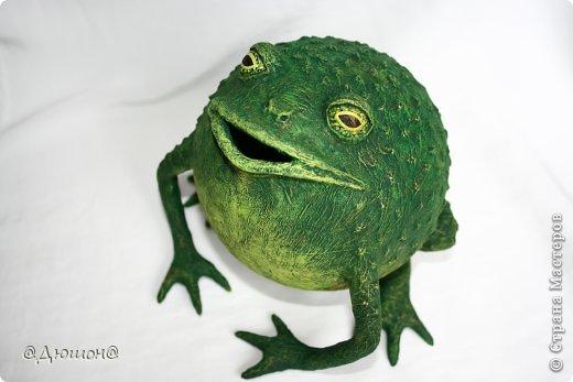 Мастер-класс Поделка изделие Папье-маше МК - жабика копилка Бумага Клей Краска фото 32