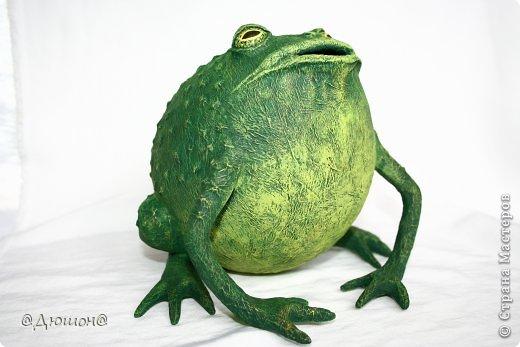 Мастер-класс Поделка изделие Папье-маше МК - жабика копилка Бумага Клей Краска фото 34