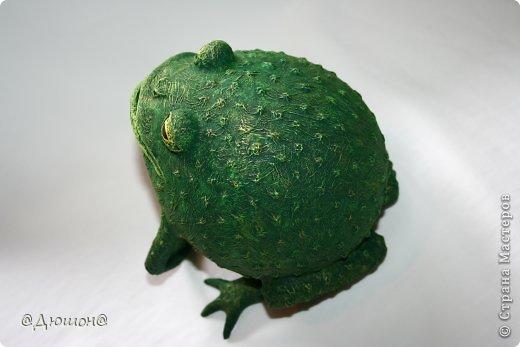 Мастер-класс Поделка изделие Папье-маше МК - жабика копилка Бумага Клей Краска фото 35