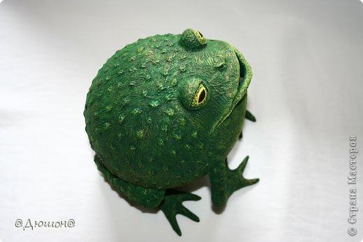 Мастер-класс Поделка изделие Папье-маше МК - жабика копилка Бумага Клей Краска фото 36
