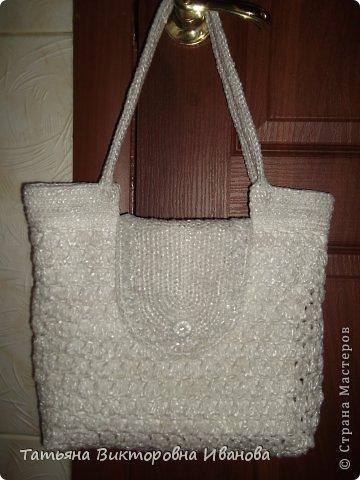 Здравствуйте, жители страны мастеров! Сегодня я вам представляю новую коллекцию сумок из полиэтиленовых пакетов. Первая сумка пляжная. фото 7