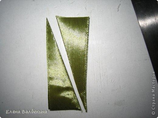 Мастер-класс Поделка изделие Цумами Канзаши Желтая роза подробный МК  Ленты Проволока фото 13
