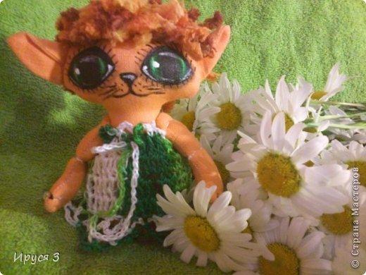 Давно не шила куколок , соскучилась очень -))) Это котята , сшила из льна , глазки нарисовала акриловыми красками -))) фото 2