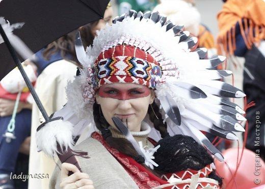 Костюм Индейца с индейским головным убором из перьев. War Bonnet, Варбоннет