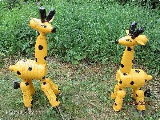 таких жирафов сделала, чтоб детям в песочнице было веселее:) фото 1