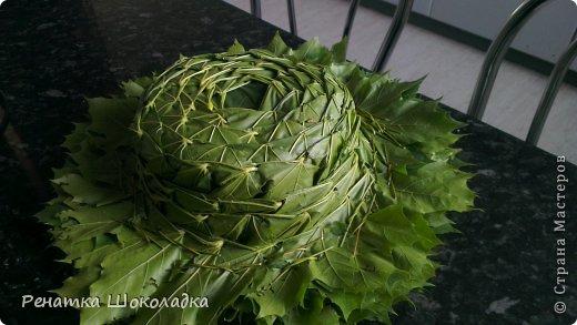 Мастер-класс День рождения Праздник осени Плетение МК шляпа из кленовых листьев Листья фото 1