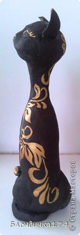 Мастер-класс Поделка изделие Лепка Папье-маше Чёрная кошка   Акварель Тесто соленое фото 3