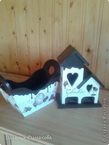 Мастер-класс Декупаж Чайный домик конфетница+МК Дерево фото 1