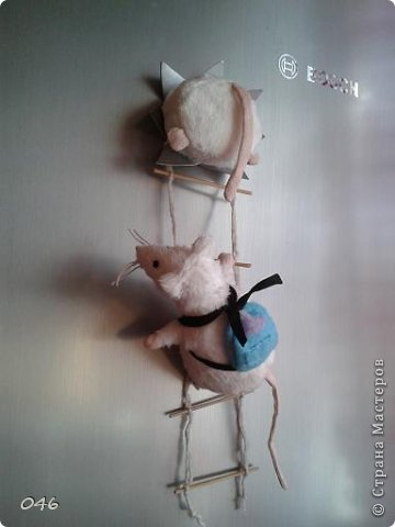 Магнитик на холодильник своими руками мышь