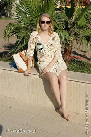 Вот такое платье! Легкое и очаровательное! Схема из Журнала мод 2008 Автор модели Анна Вититина. Пряжа Орион от Вита Котон (50/50 хлопок с вискозой) расход 450 гр (9 моточков) крючок 2,5. фото 7