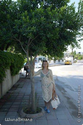 Вот такое платье! Легкое и очаровательное! Схема из Журнала мод 2008 Автор модели Анна Вититина. Пряжа Орион от Вита Котон (50/50 хлопок с вискозой) расход 450 гр (9 моточков) крючок 2,5. фото 9