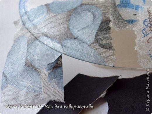 Декор предметов Мастер-класс Декупаж Обратный декупаж Декор тарелки Краска Салфетки Стаканы фото 3