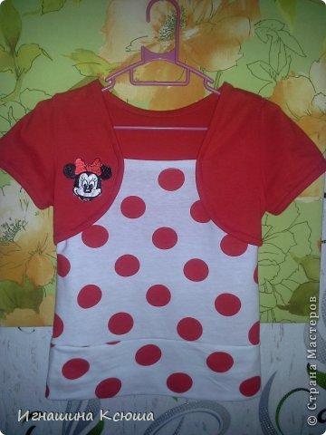 футболка для младшей дочери, ткань трикотаж х/б .