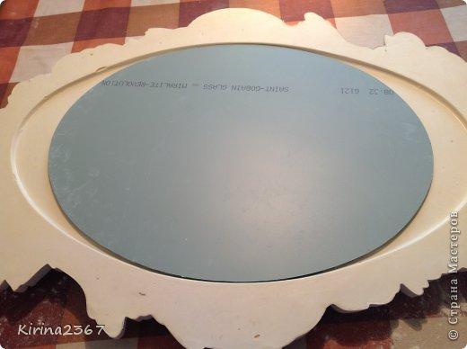Интерьер Мастер-класс Поделка изделие Моделирование конструирование Старинное зеркало из потолочной розетки фото 9