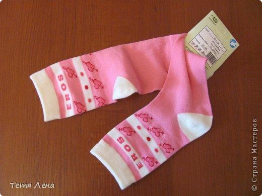 Игрушка Мастер-класс Шитьё Розовая такса из носков Носки фото 3