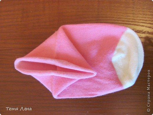 Игрушка Мастер-класс Шитьё Розовая такса из носков Носки фото 14