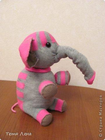 Игрушка Мастер-класс Шитьё Слонёнок Носки фото 1