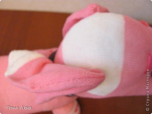 Игрушка Мастер-класс Шитьё Розовая такса из носков Носки фото 17