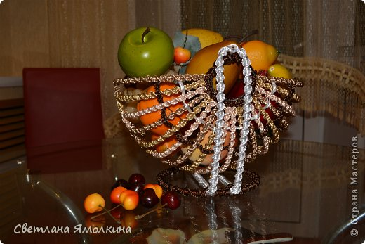 Мастер-класс Поделка изделие Макраме Мастер-класс Макраме Корзинка для фруктов  Нитки фото 27