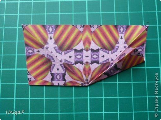 Это второй член королевской четы. Фараон (ну кому ж еще быть?)   Name: Pharaoh Designer: Maria Sinayskaya                 Diadem kusudama https://www.flickr.com/photos/51642560@N02/5096622060/in/set-72157624275437833/ Variation: Uniya Filonova Parts: 30 + 60 Paper: 7,5 x 7,5 + 5 x 5 Final height: ~ 12 cm Joint: no glue фото 4